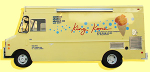 King Kone Ice Cream Delivery Truck